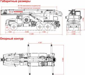 Автокран КС 55732 схема