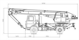 Автокран Машека 15 тонн размеры