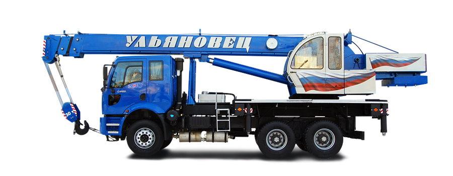 Автокран Ульяновец форд