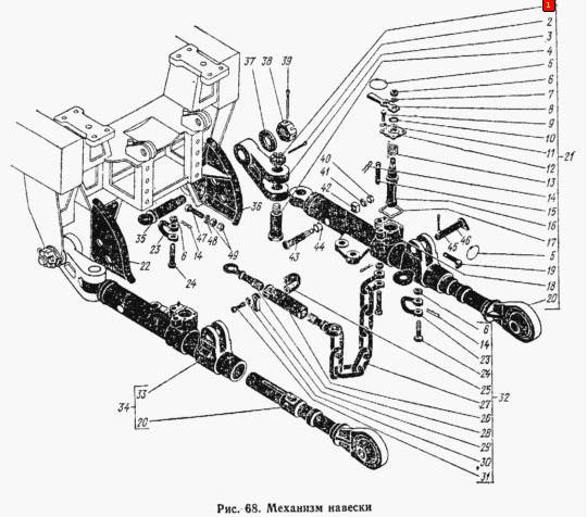 «Кировец» К-700 навесной механизм схема