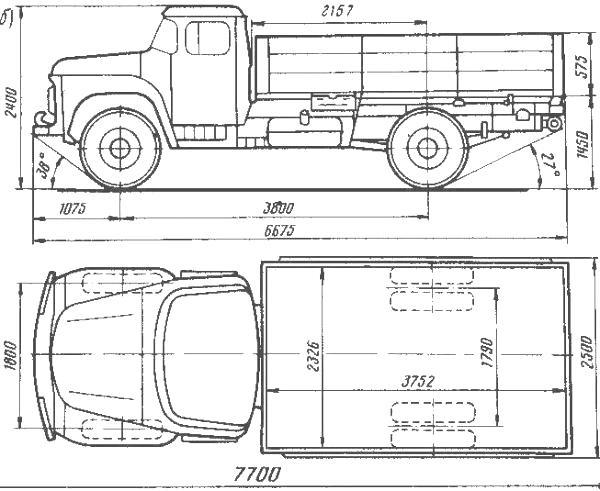 ЗИЛ-130 габаритные размеры