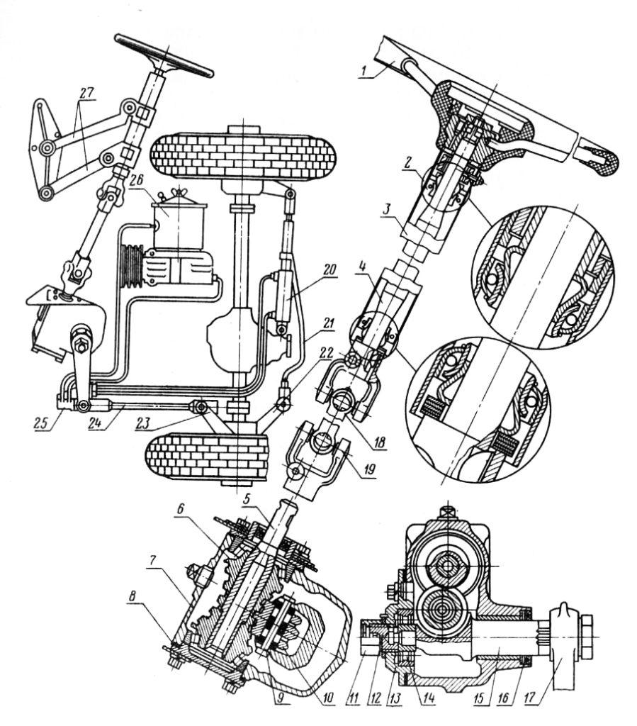 Рулевое управление ГАЗ-66.jpg полная схема