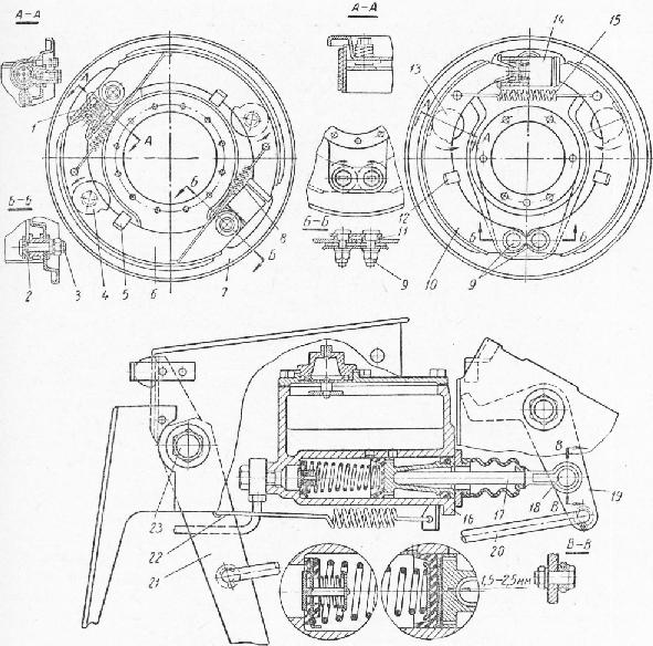 Тормозная система ГАЗ-66 схема