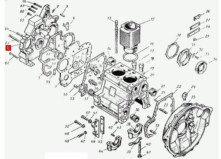 Т-25 двигатель схема