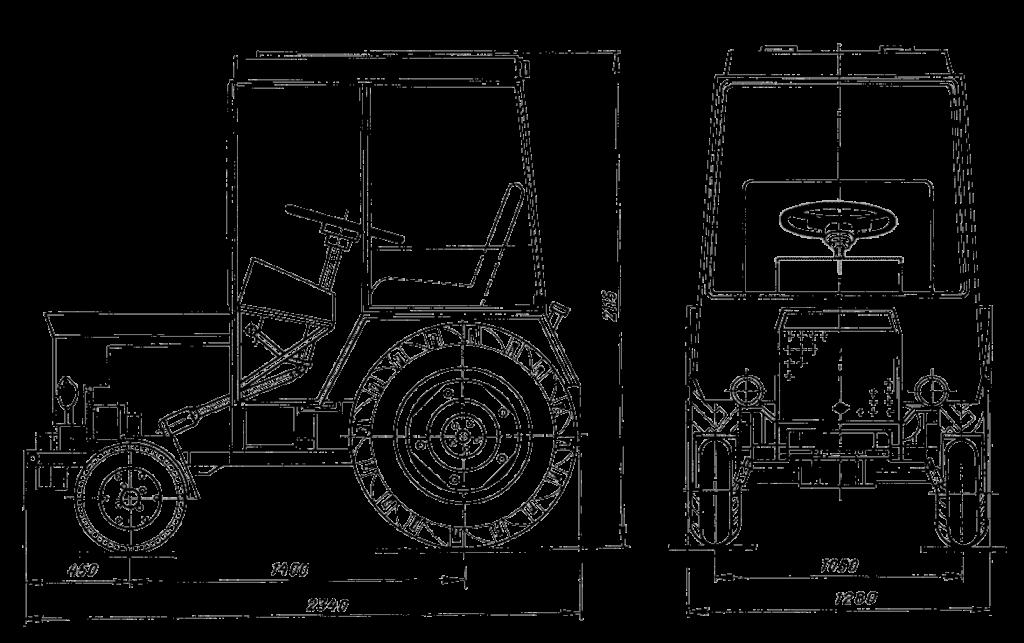 Т-25 размеры