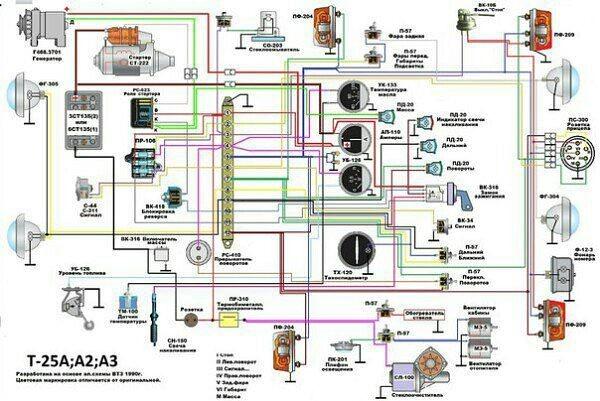 Т 25 схема электрики
