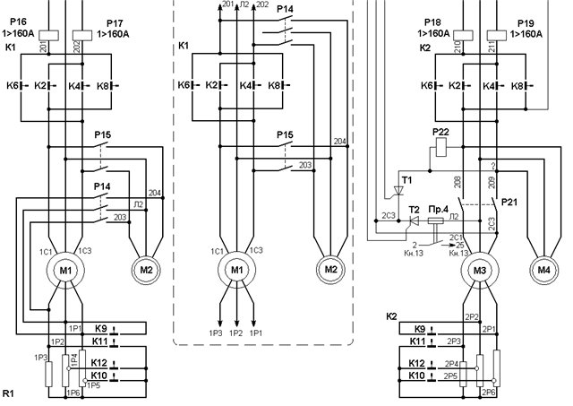Гусеничный кран ДЭК-251электросхема 4