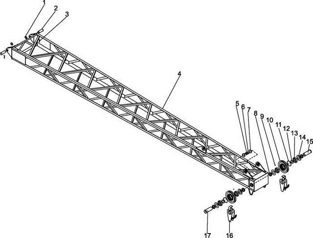 Гусеничный кран ДЭК-251 устройство стрелы