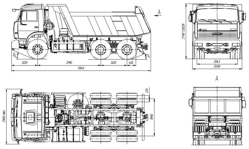 КамАЗ-65115 габариты