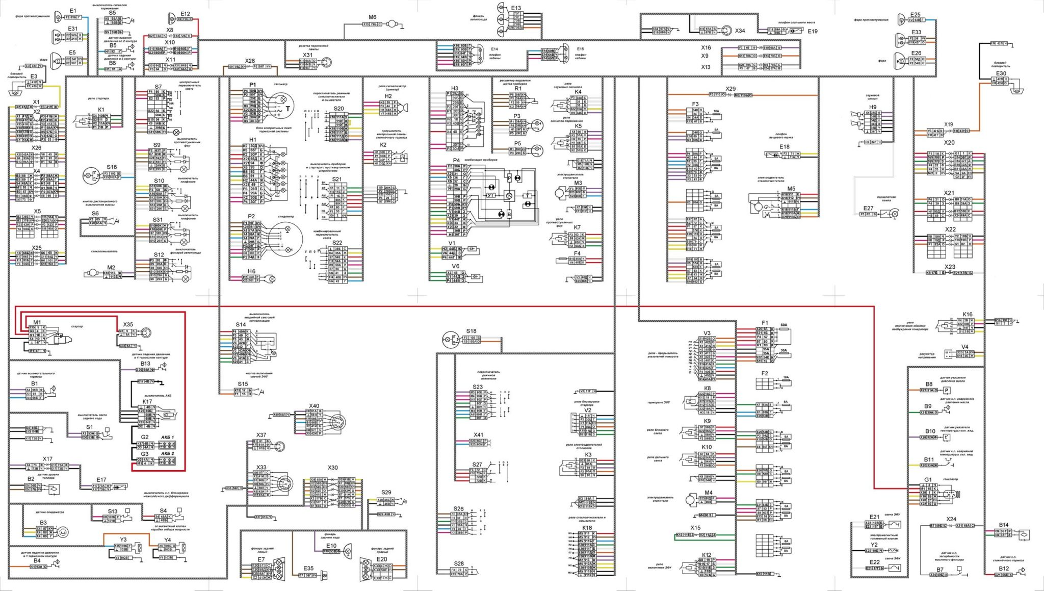 КамАЗ-65115 схема электропроводки