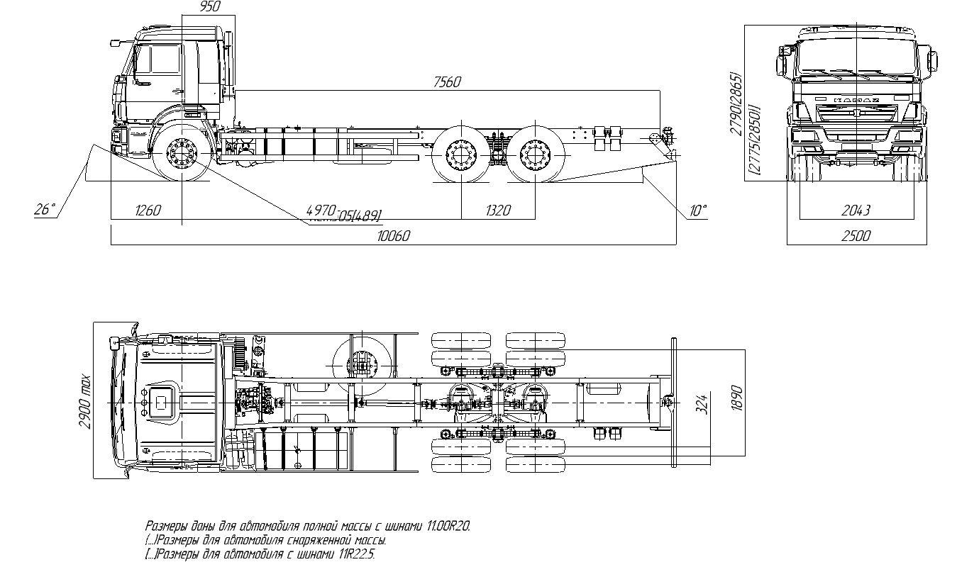 КамАЗ 65117 габаритные размеры