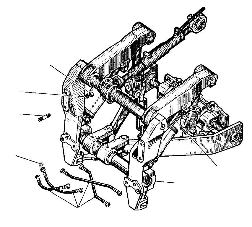 механизм навески бульдозера т-170