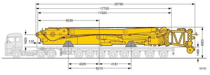 Liebherr LTM 11200-9.1. габаритные размеры