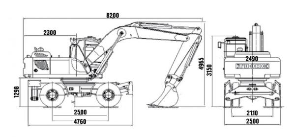 Экскаватор ЕК 18 габаритные размеры