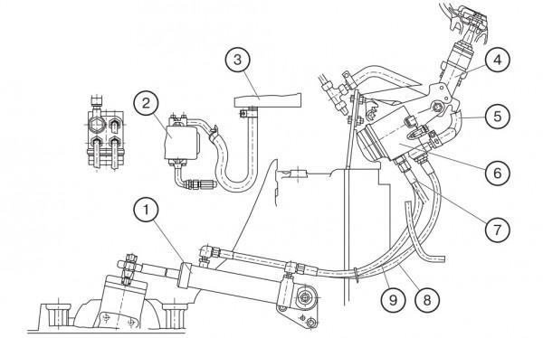 МТЗ-320 схема рулевого управления