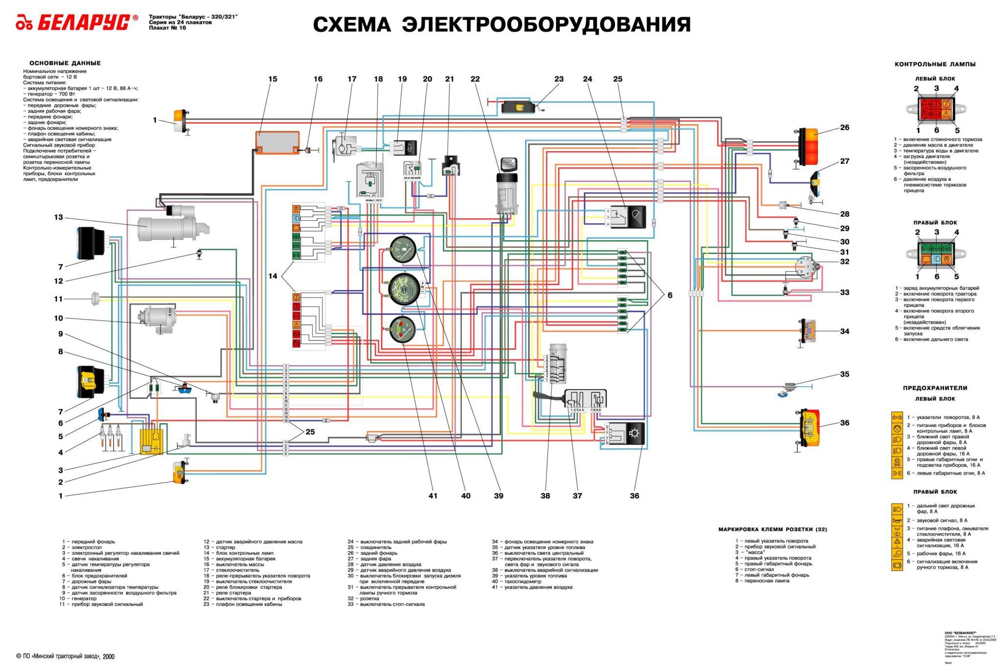 МТЗ-320 электросхема