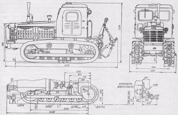 Трактор Т-4 габаритные размеры