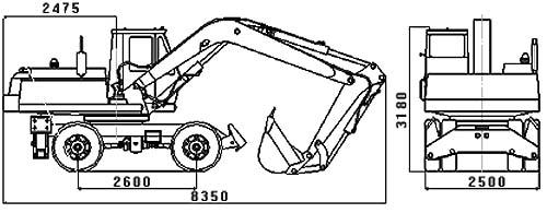 ЭО-3323 габаритные размеры