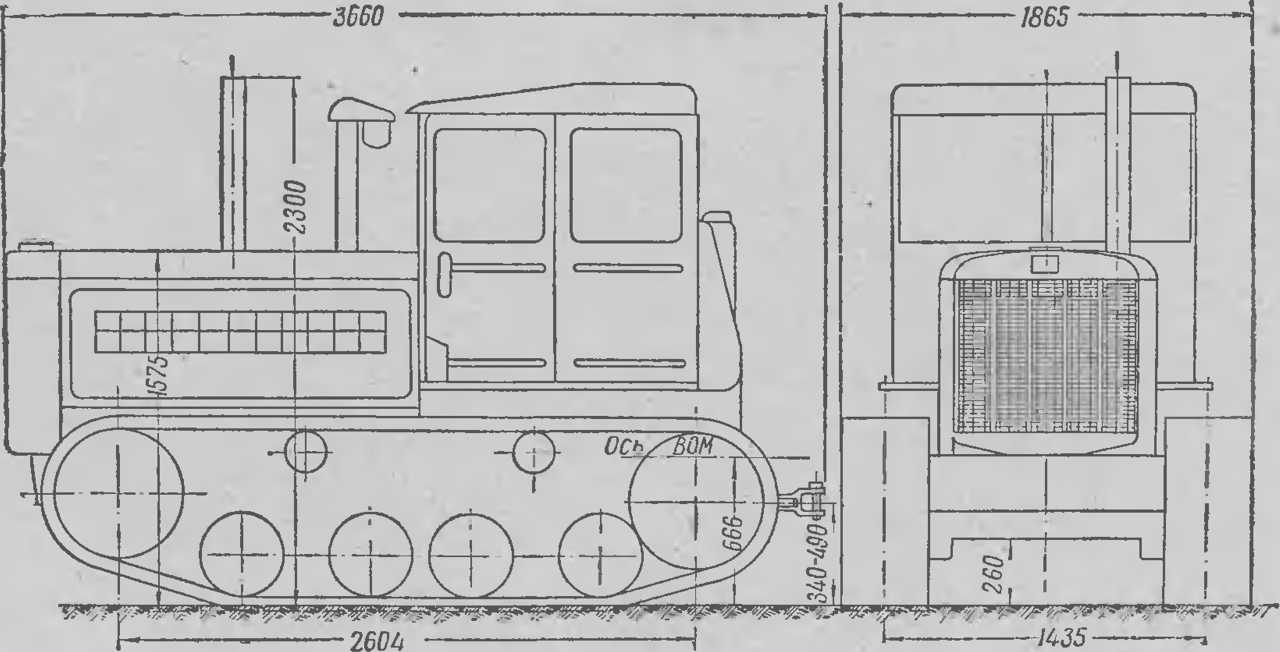 ДТ-54 габаритные размеры