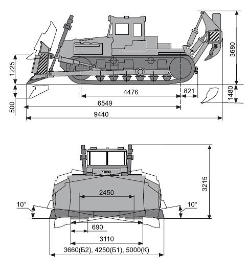 ДЭТ-250 габаритные размеры