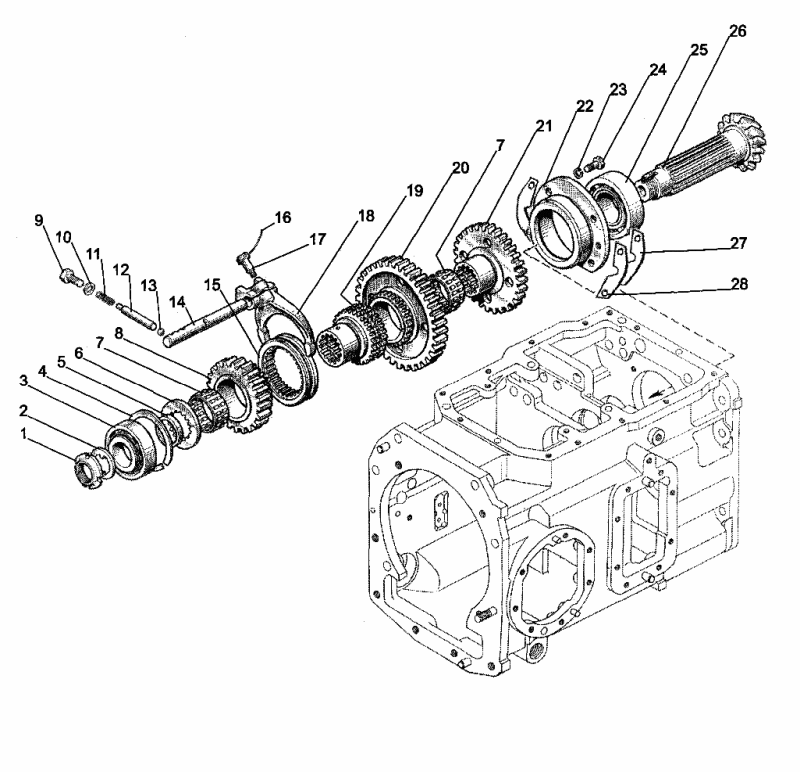МТЗ-1523 коробка передач