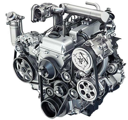 Бензиновый двигатель объемом 2,7 л и мощностью 128 л.с.