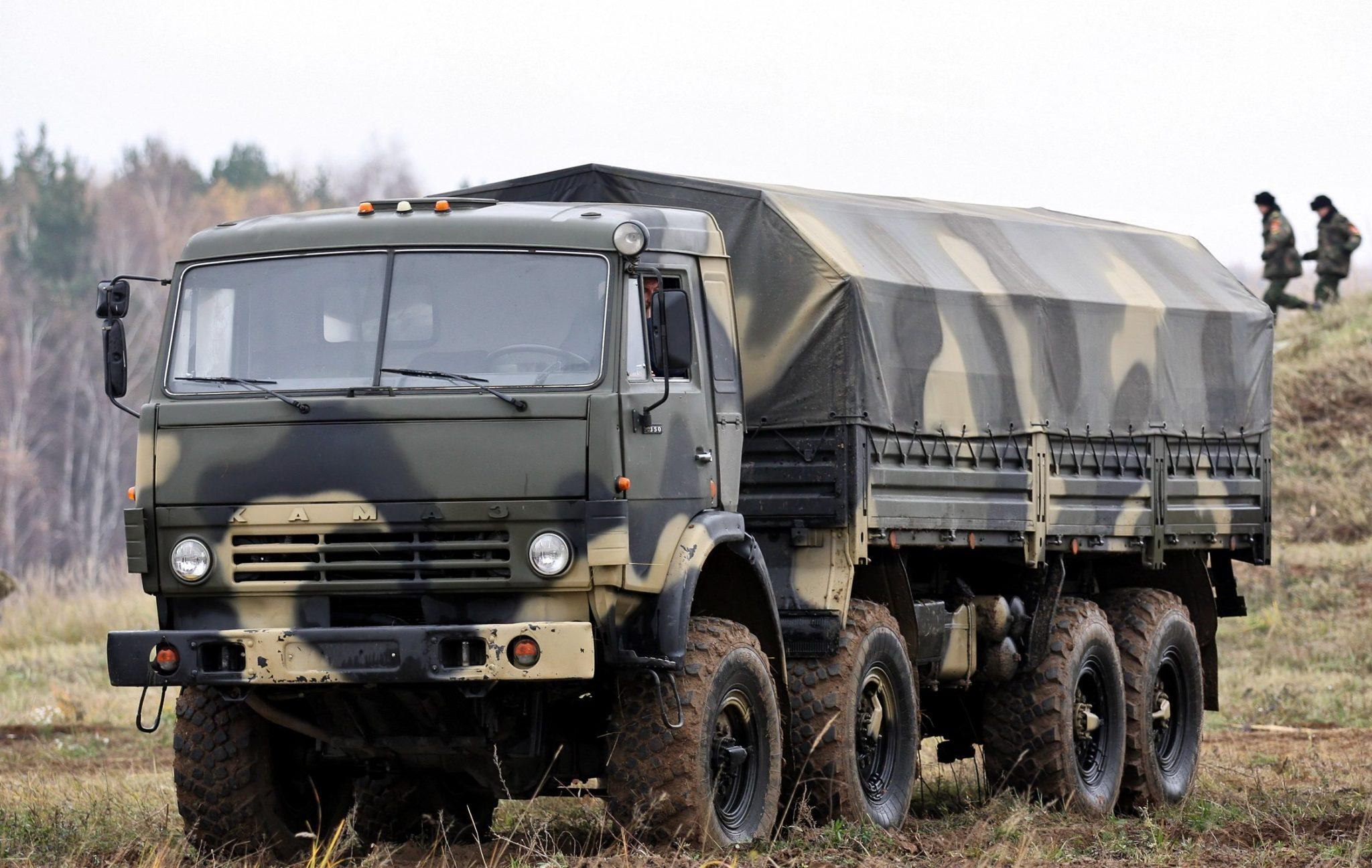 КамАЗ-6350 в полевых условиях