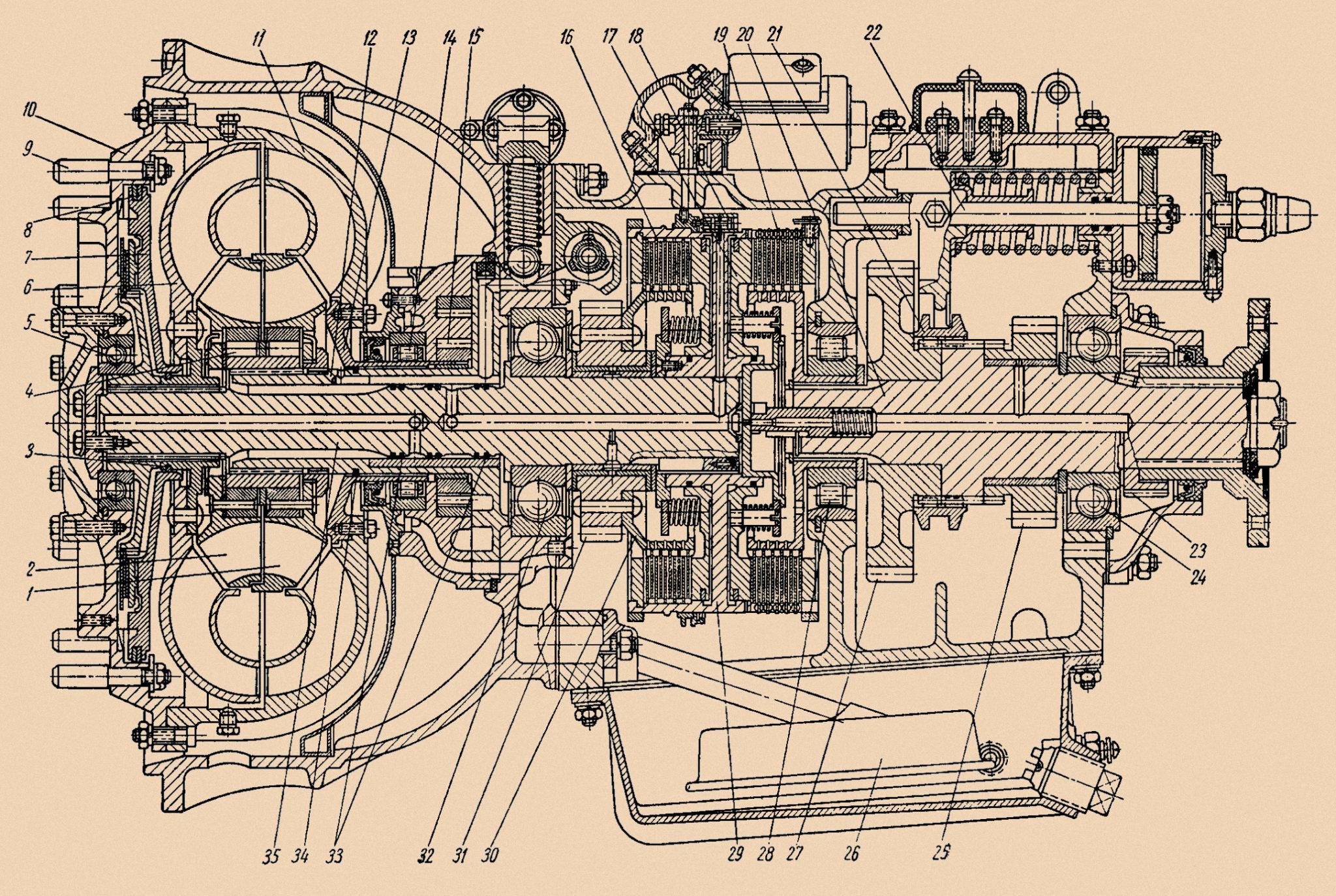 ЛАЗ-695Н двигатель