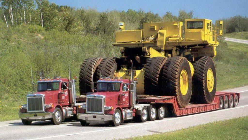Транспортировка грузовика