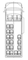 Пассажирский микроавтобус, длина L4. Количество мест: 17+2+1