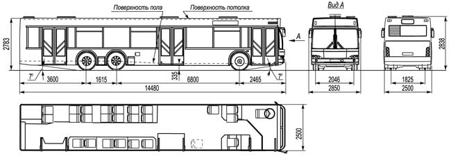 МАЗ-107 габаритные размеры